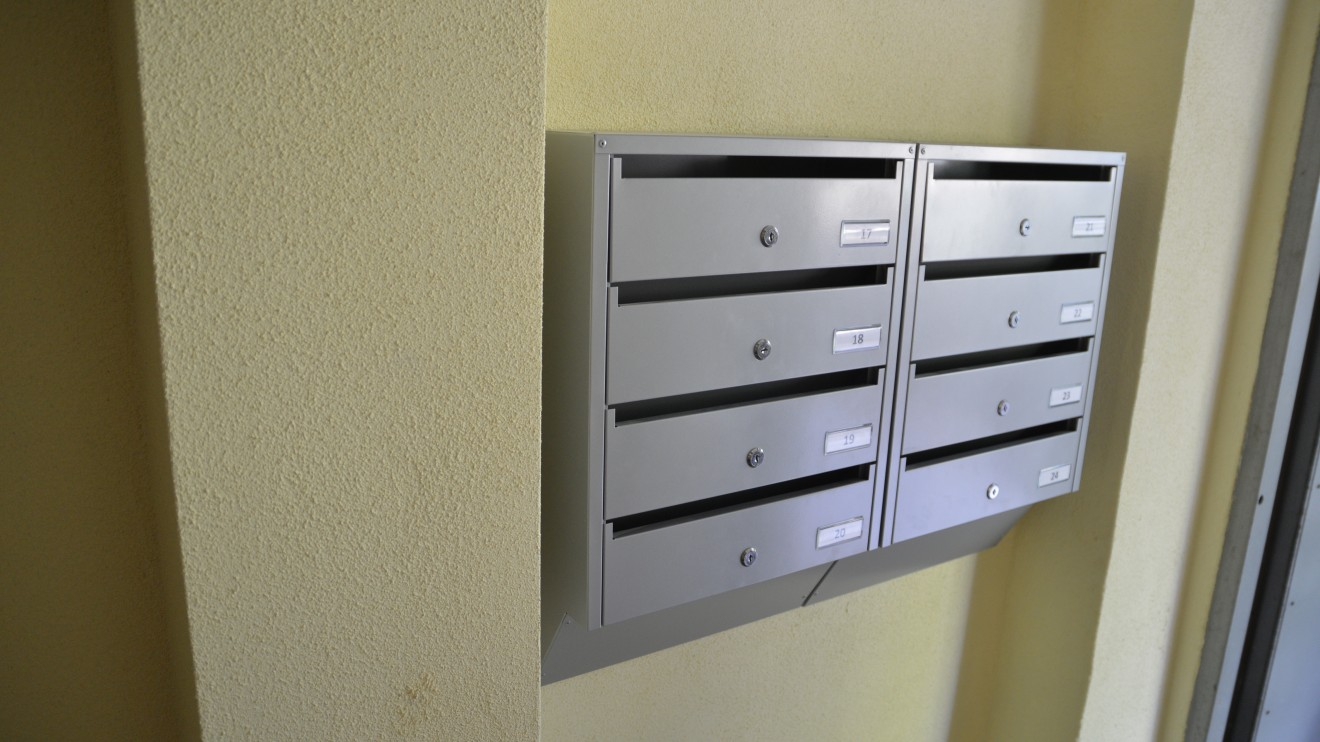 Dėl pašto dėžučių keitimo kreipkitės į savo namo administratorių.