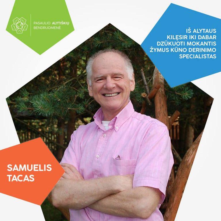 Pasaulio alytiškis, kineziterapeutas, rašytojas Samuelis Tacas