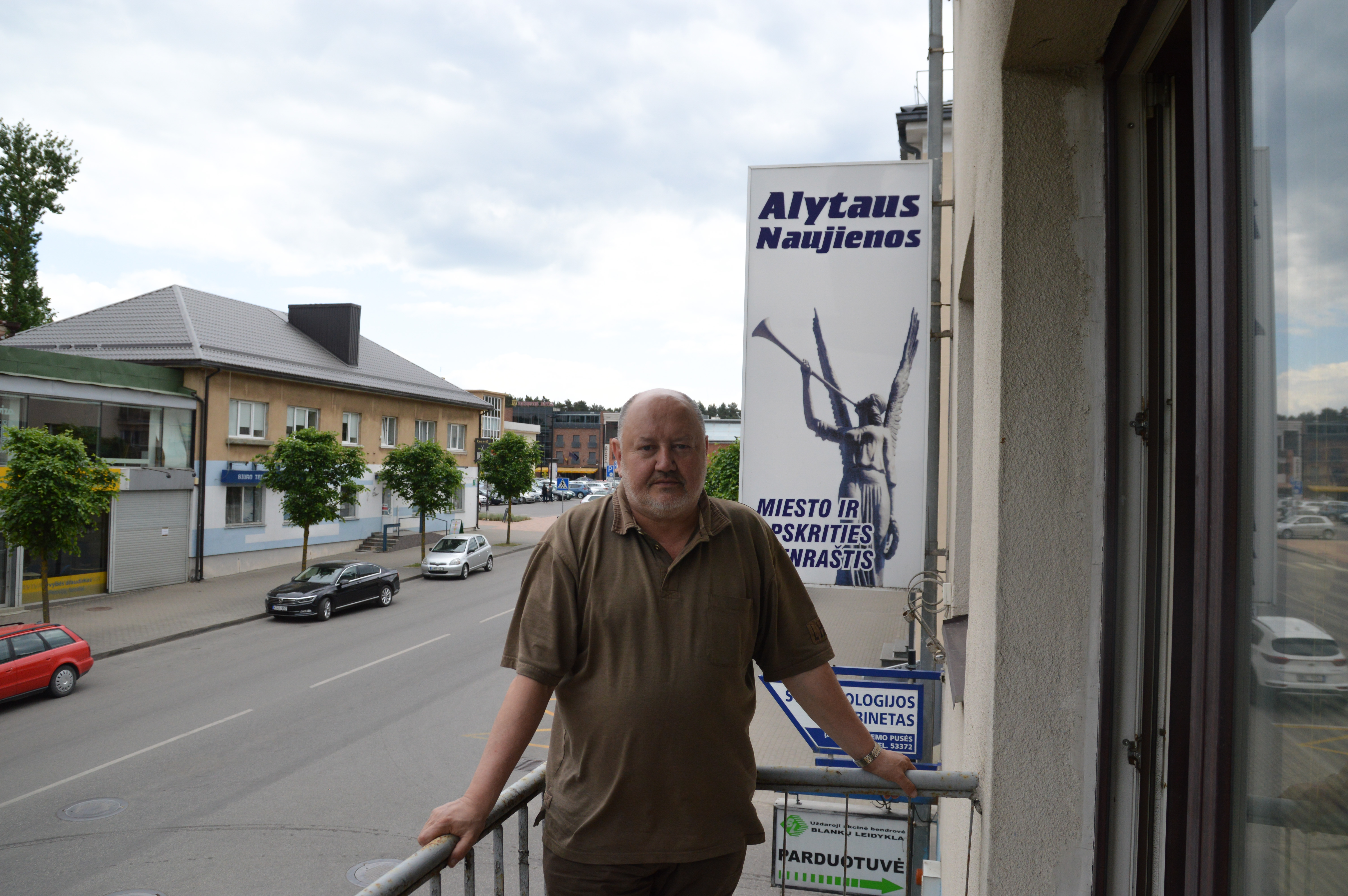 """UAB """"Alytaus naujienos"""" direktorius Romas Burba yra namo įgaliotinis ir rūpinasi visais namo klausimais."""