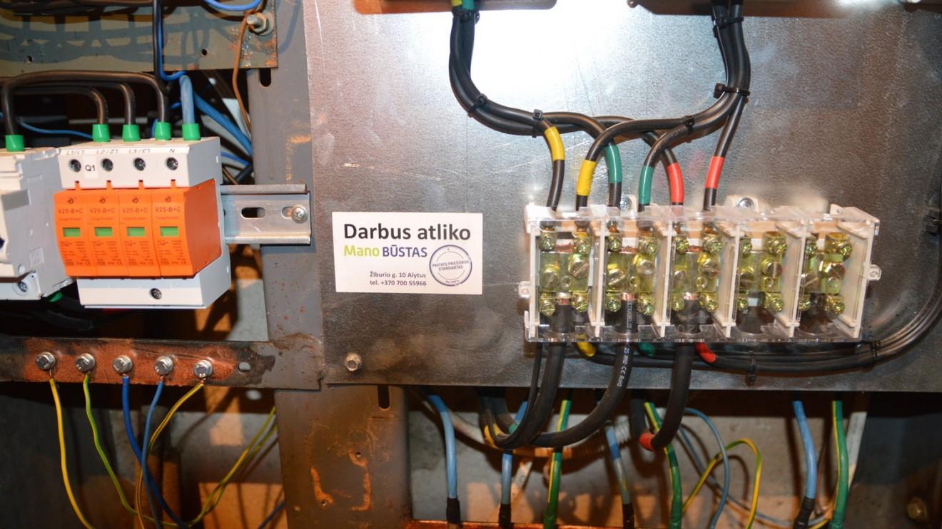 Taip atrodo tvarkinga elektros instaliacija