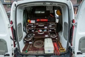"""""""Mano Būsto"""" avarinės tarnybos automobilyje galima rasti visko, ko reikia avarijoms likviduoti."""